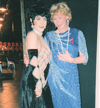 Deirdre with cast member at Cage au Fol show in Iowa City, 1997
