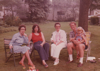 Great aunt Barbara, Joanne, Granny Stueland, Donald with Meg, 1978