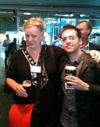 Deirdre with her advisee Nuno Palma from Portugal, at the European Historical Economics meetings at the Guinness Brewery in Dublin, Sept 2011