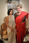 Deirdre with Shikha Sood Dalmia, <br />in New Delhi, January 2014